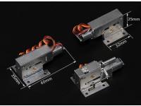 Turnigy全金属Servoless缩回W /可操纵前端组件(4毫米引脚)