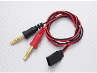 双叶插头对香蕉插头充电导线适配器