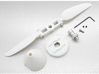 Hobbyking海象滑翔机1400毫米 - 道具+微调器设置