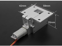 全金属Servoless 100度收回的大型模型(6千克)W /12.7毫米引脚