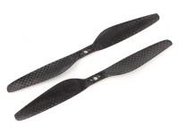 多转子碳纤维T型螺旋桨7x2.4黑色(CW / CCW)(2个)