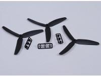 Hobbyking™3叶螺旋桨5X3黑色(CCW)(3个)