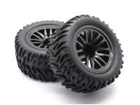 预胶轮胎套装 -  1/10 Quanum防暴XL四驱赛车越野车(2个)