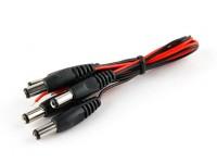 2.1毫米DC电源插头与15厘米铅(5片装)