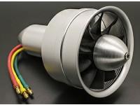合金DPS64毫米10个刀片电动涵道风扇Assembley 3300Kv