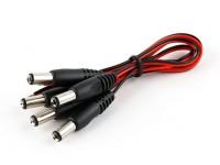 2.5毫米DC电源插头与15厘米铅(5片装)