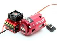 TrackStar吼批准的1/10股票类无刷电调与电动机组合(13.5T)