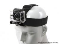 可调松紧头带对于GoPro的/ Turnigy行动凸轮