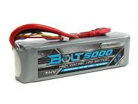 Turnigy博尔特5000mAh的15.2V 4S店65〜130℃的高压Lipoly包(LiHV)