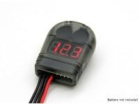 Turnigy锂聚合物电池电压测试仪2-8S低电压报警蜂鸣器