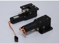 Servoless收回与金属耳轴33毫米毫米x 35毫米安装(2PC)