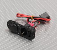 重型RX开关,充电口及燃料黑点