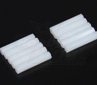 5.6毫米点¯x30毫米M3尼龙垫片螺纹(10PC)