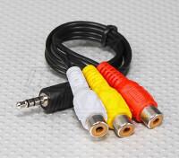 3.5毫米至RCA A / V插头铅(300毫米)