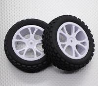 接待越野车轮胎套装2套(分裂5辐) -  1/10 Quanum防暴四轮驱动赛车越野车(2个)