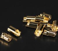 普力马6.5毫米金连接器5双(10PC)