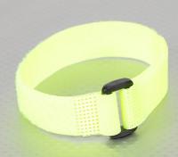 粘扣带通用捆绑 -  Flouro黄色 - 300毫米