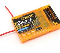 OrangeRX RX3S 3轴飞行稳定W / DSM2兼容6CH的2.4GHz接收器