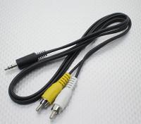 3.5毫米马累单声道RCA A / V插头引线(100mm,所)