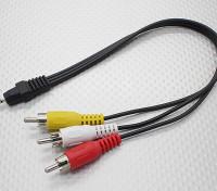 2.5转公立体声RCA A / V插头适配器引线(300毫米)