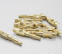 4毫米镀金香蕉插头(10PC)