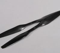 多转子碳纤维与DJI配件螺旋桨15x5.5黑色(CW / CCW)(2个)