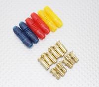 4毫米RCPROPLUS SUPRA点¯x黄金子弹两极化连接器(6对)