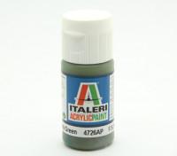 Italeri丙烯酸涂料 - 平深绿色