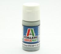 Italeri丙烯酸涂料 - 平的暗灰色幽灵
