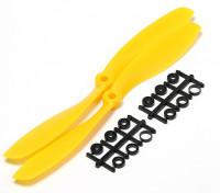 Turnigy Slowfly螺旋桨8x4.5黄色(CW)(2个)