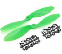 Hobbyking螺旋桨7x3.8绿色(CW / CCW)(2个)