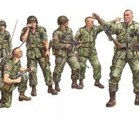 Italeri 1/35规模美国伞兵塑料模型套件(6PC)