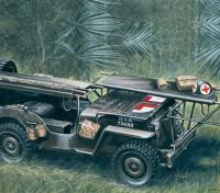 Italeri 1/35规模4×4吉普车救护车塑料模型套件