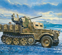 Italeri 1/35规模德马格D7随着高射炮38 Sd中。 KFZ。 10/5塑料模型套件