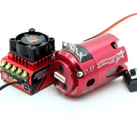 TrackStar吼批准的1/10股票类无刷电调与电动机组合(21.5T)