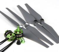 多星350〜450外形尺寸为2212组合套装采用自紧螺旋桨顺时针/逆时针套2