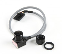 Aomway迷你600TVL FPV调谐CMOS摄像头,麦克风和屏蔽电缆(PAL)