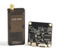 微HKPilot遥测无线电模块与屏幕显示(OSD)单元 -  433MHz的。
