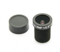 """3.6毫米IR / 500万像素的镜头董事会F2.0 1 / 2.5""""130°"""