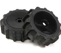1/8比例黑色职业碟轮桨式轮胎(2PC)