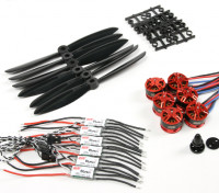 DYS 250/300类BE1806 2300KV汽车W / DYS BL20A光电ESC的和6045螺旋桨组合