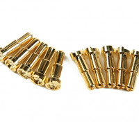 4-5mm的通用公镀金弹簧连接器 - 小尺寸(10片装)