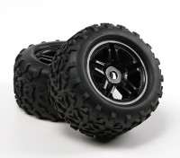 HobbyKing®™1/8履带155毫米车轮和轮胎(黑眼圈)(2个)