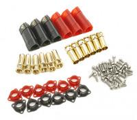 6毫米SUPRA点¯x黄金子弹极化连接器套件(3对)
