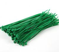 扎带150毫米x 3mm的绿色(100个)
