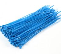 扎带150毫米x 3mm的蓝色(100个)