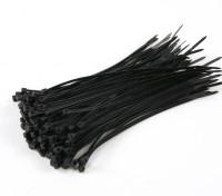 扎带150毫米x 3mm的黑色(100个)