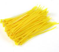 扎带150毫米x 4mm的黄(100个)