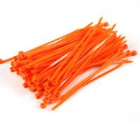 扎带150毫米x 4mm的橙色(100个)