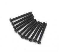 金属圆头机六角螺丝M2.5x22-10个/套